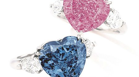 Sotheby's Marks Return to Live Auctions With Pair of Heart-Shaped Diamond Rings
